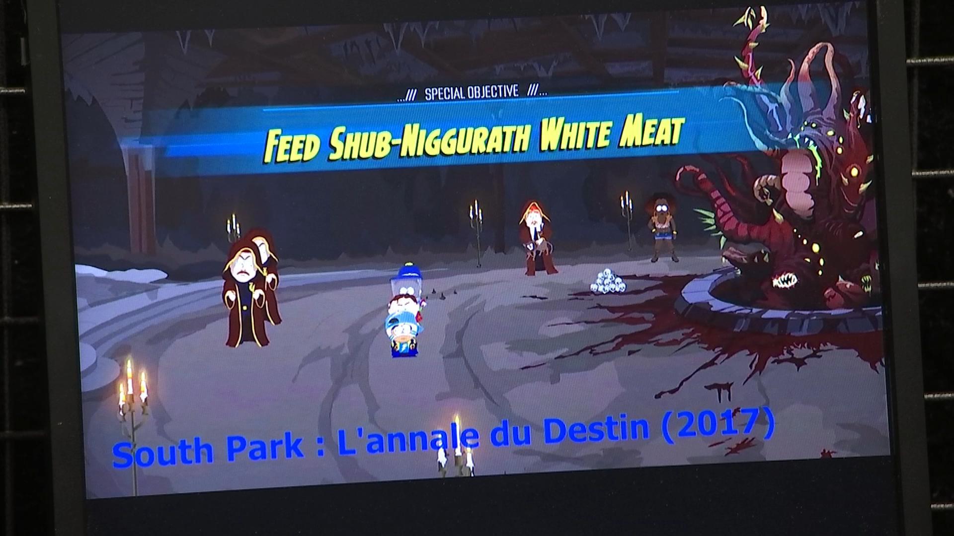Un monstre lovecraftien dans le jeu vidéo South Park