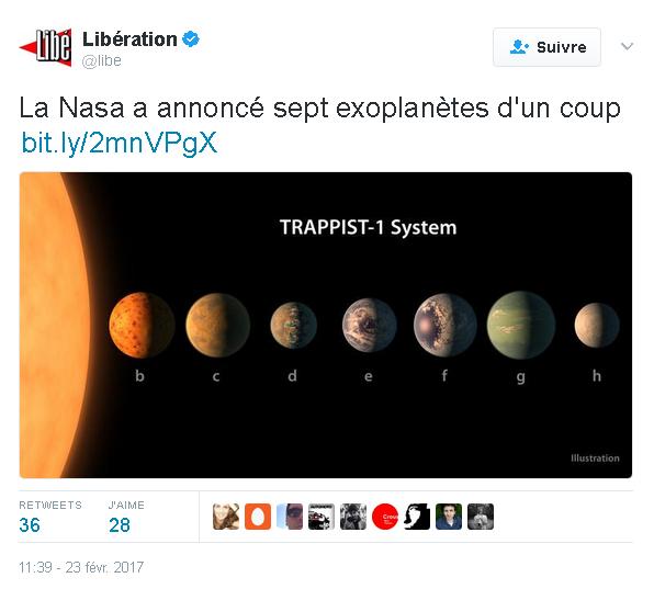 nasa tweet libération