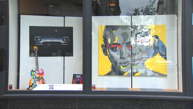 À Huy, on fait du lèche-vitrines artistique