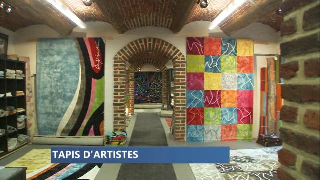 Des tapis réalisés à partir d'oeuvre d'artistes liégeois à Saive