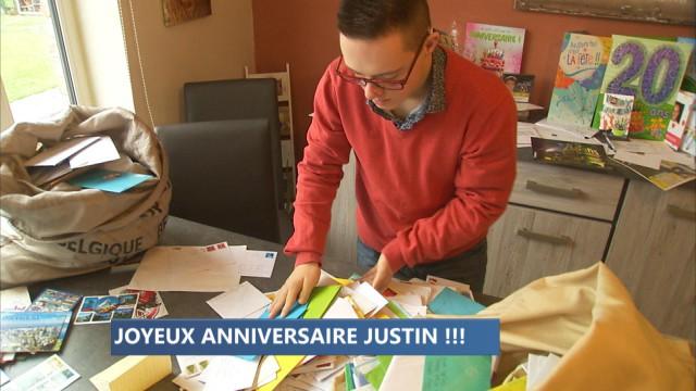 10.000 cartes d'anniversaire pour les 20 ans de Justin !