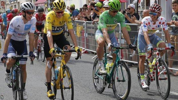 Arrivée d'étape à Liège pour le Tour de France 2017