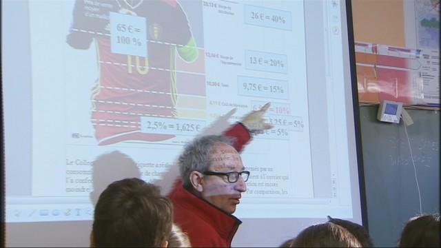 Des élèves dénoncent les conditions de fabrication des maillots des Diables Rouges