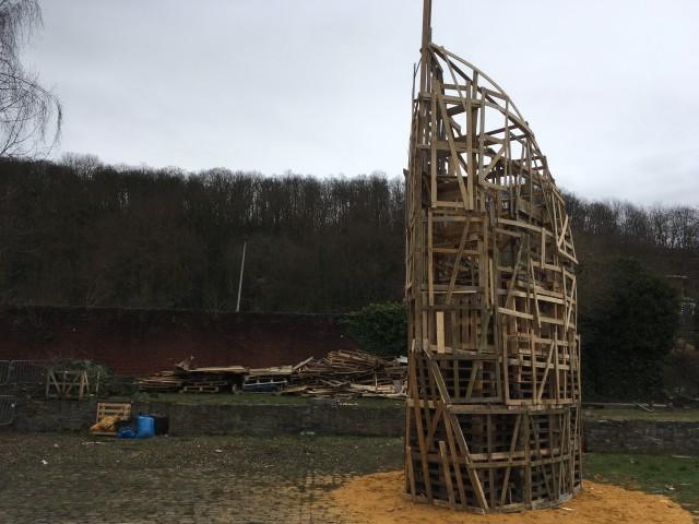 La tour des Finances brûlée au Carnaval du Nord