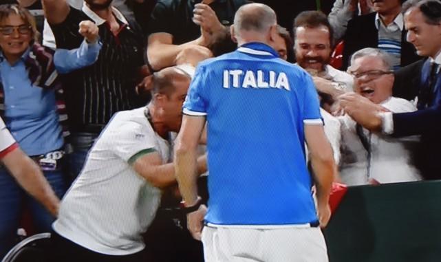 Coupe Davis : l'Italie revient à 2-1
