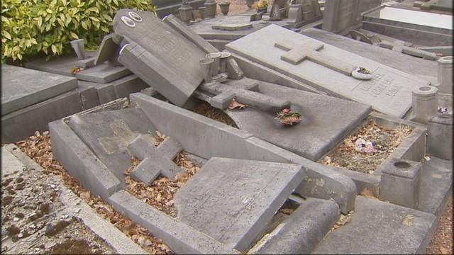 Une cinquantaine de tombes vandalisées à Ougrée !
