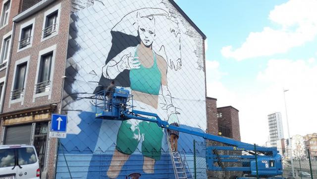 Liège : une fresque en hommage au dessinateur Enki Bilal