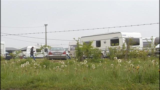 Campement de gens du voyage à Marnette