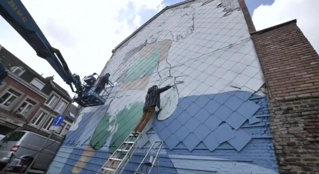 Le timelapse de la fresque hommage à Bilal