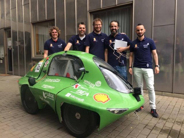 L'Univesité de Liège au Shell Eco-marathon.