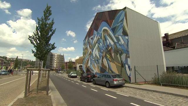 L'artiste international Jaba habille Seraing d'une fresque géante