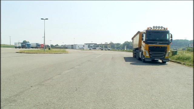 Stationnement interdit pour les poids-lourd à Bettincourt