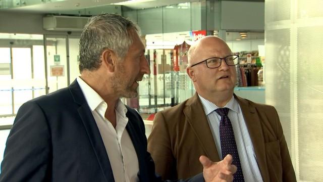Le ministre Jean-Luc Crucke en visite à Liège Airport