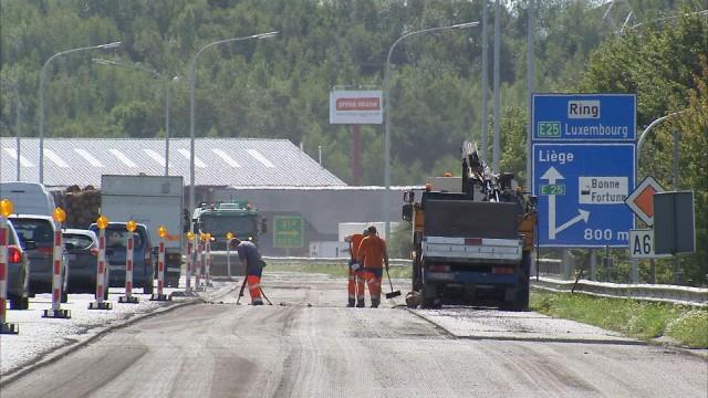Retards pour les travaux sur la A602 entre Loncin et Burenville