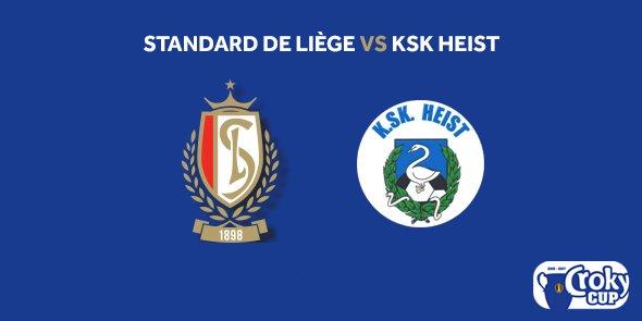 Coupe de Belgique : Standard - Heist sera joué à Sclessin