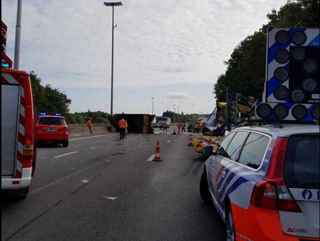 Accident grave sur l'autoroute E42 à Huccorgne (vidéo)