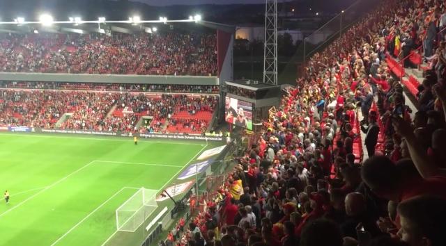 Belgique - Gibraltar à Sclessin, avec les supporters
