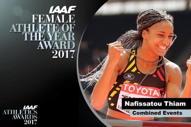 Nafi Thiam Athlète Féminine de l'Année 2017 !