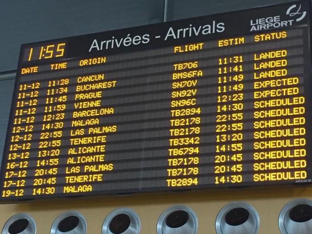 Des avions pour Bruxelles National atterrissent à Liège Airport