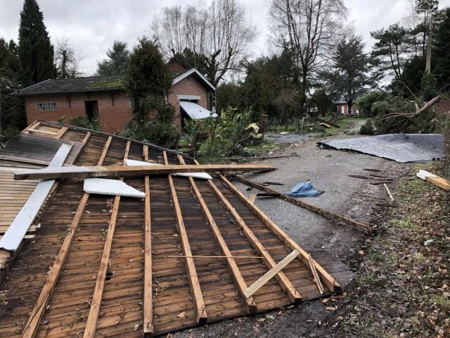 La tempête Eléanor a secoué la région liégeoise