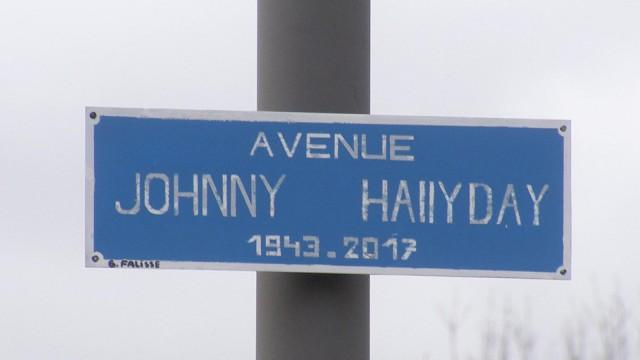 Avenue Johnny Hallyday à Seraing, une idée de Gilles Falisse