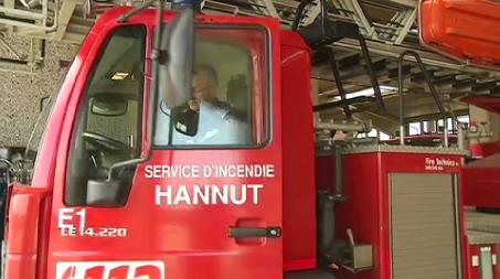 Hannut : cinq pompiers légèrement blessés
