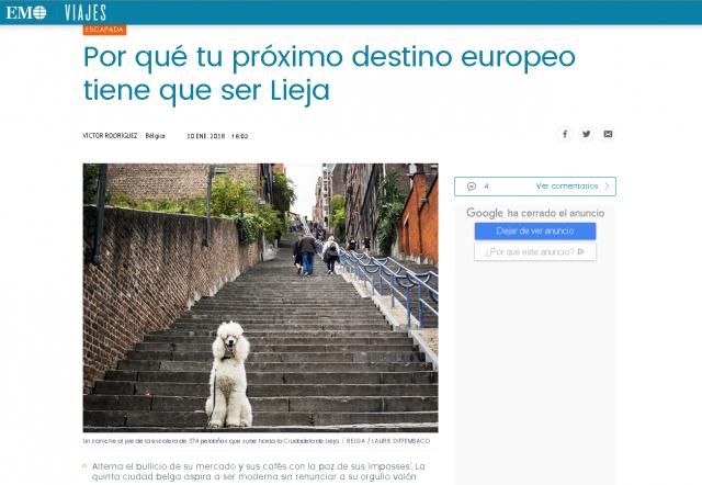 Liège, à visiter selon le journal espagnol El Mundo