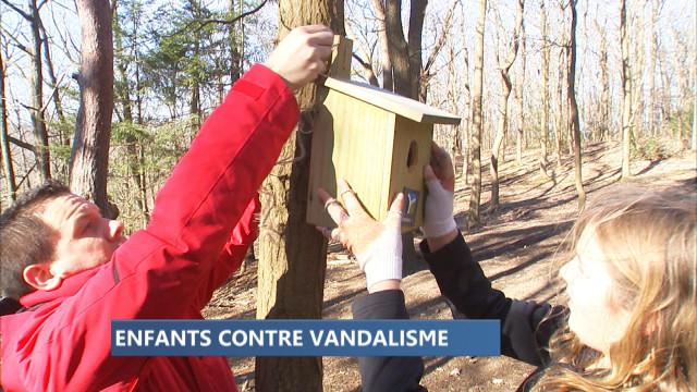 Vandalisme : la réponse des enfants de l'école Ste-Claire de Huy