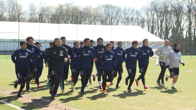 L'équipe nationale japonaise au Standard