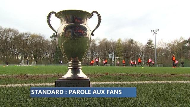 Standard: une Coupe et 500 fans au coeur de l'entraînement