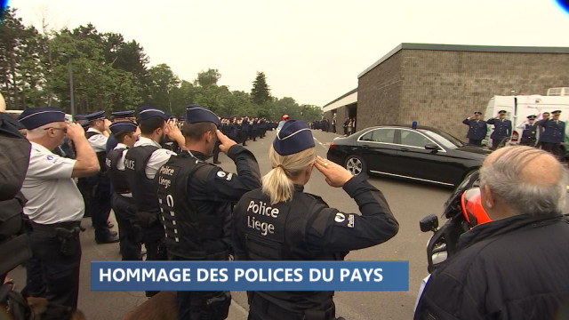 Les policiers belges rendent hommage à leurs consoeurs tuées