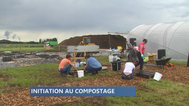 Atelier compostage au Jardin Ressources d'Intradel