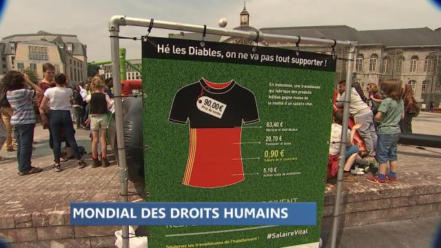 Liège: le maillot des Diables Rouges au centre d'une mobilisation