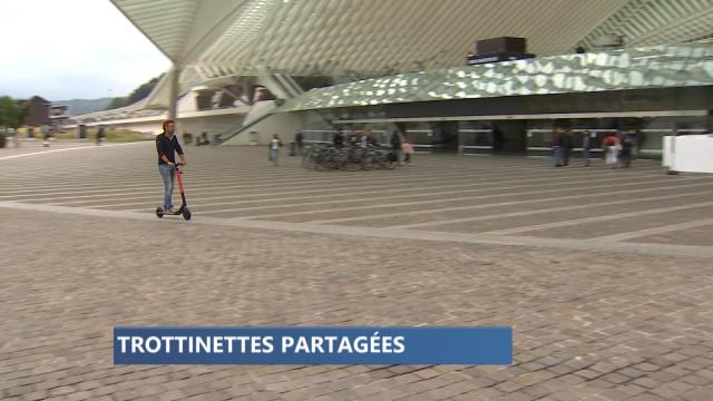 Nouveau à Liège: des trottinettes électriques partagées