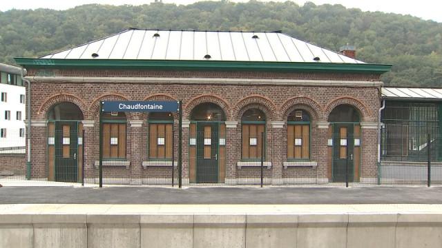 La gare de Chaudfontaine de nouveau en service