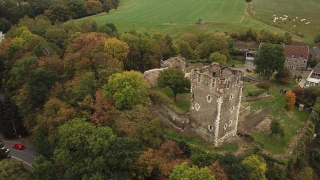 Le vieux château de Saive