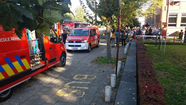 Incendie et évacutation au bureau de vote de Saint Georges