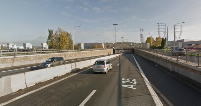 E25 : des chutes de pierres sur l'autoroute à Jupille