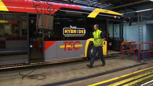 Bus hybrides en panne