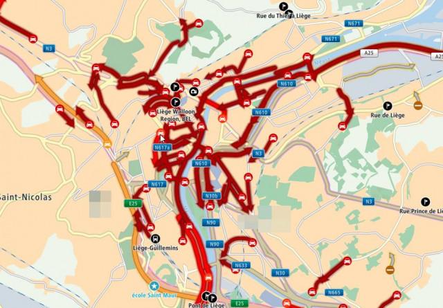 Gilets jaunes : le centre de Liège a été complètement bloqué
