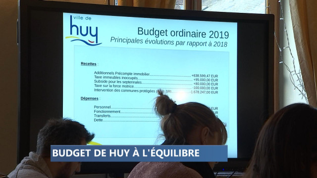 Huy : un budget 2019 équilibré et ambitieux
