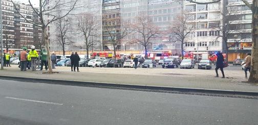 Incendie boulevard d'Avroy à Liège