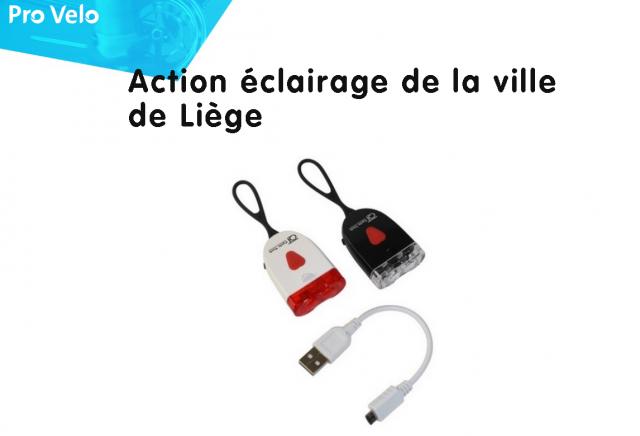 Liège : distribution de 600 kits éclairage vélo gratuits