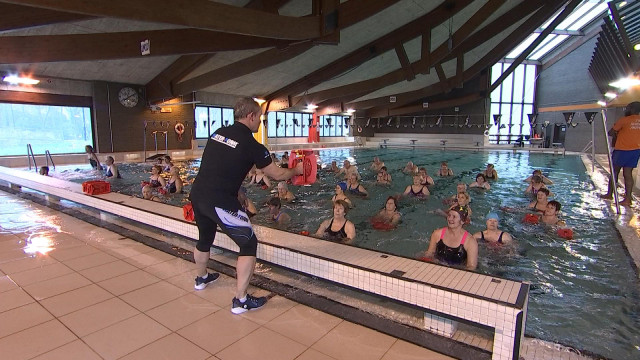 Le work-out aquatique testé à la piscine de Huy