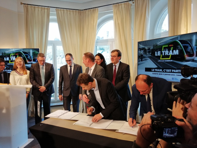 Tram de Liège, c'est signé !