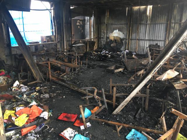 Incendie à l'école Don Bosco de Saint-Georges