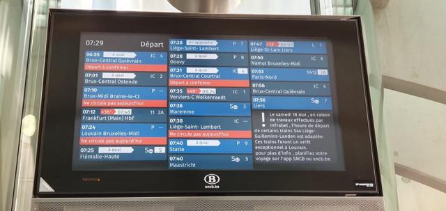 Perturbations sur le rail ce mardi 14 mai