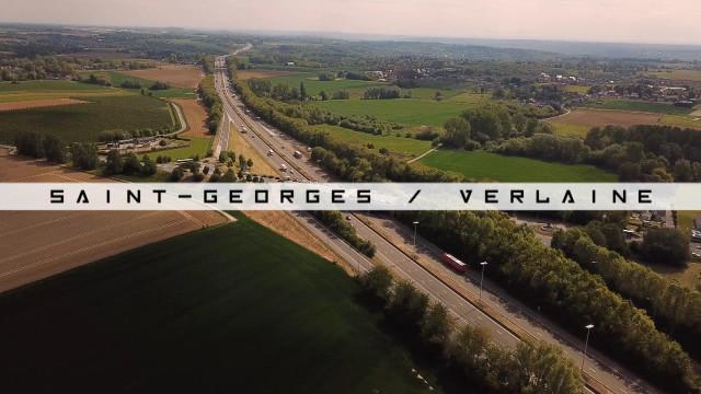 Vu du Ciel : Verlaine et Saint-Georges-sur-Meuse