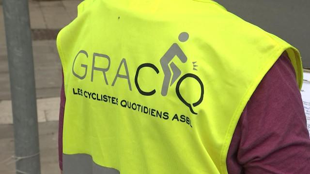 Le GRACQ comptabilisait les cyclistes ce lundi à Huy