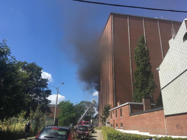 Phase rouge déclenchée pour un incendie chez AV Inbev à Jupille